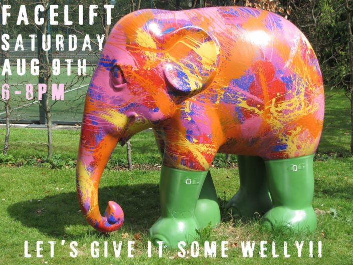 Lets give it some Welly, Facelift coming up. Sign up to volunteer