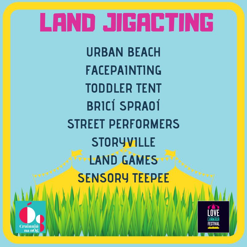 Land Jigacting, Urban Beach Facepainting, Toddler Tent, Street Performers, Sensory Teepee